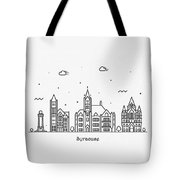 Syracuse, New York Cityscape Travel Poster Tote Bag