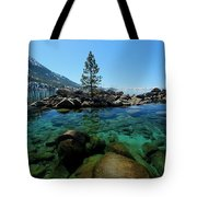 Tahoe Northern Island Tote Bag by Sean Sarsfield