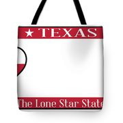 Texas State License Plate Tote Bag