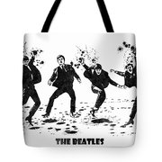 The Beatles Black And White Watercolor 01 Tote Bag
