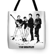 The Beatles Black And White Watercolor 02 Tote Bag