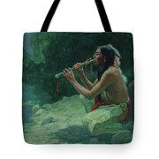 The Call Of The Flute Tote Bag