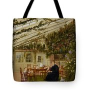 The Family Of Mr  Westfal In The Conservatory  Tote Bag