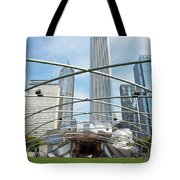 The Great Lawn, Trellis, Bandshell And Jay Pritzker Pavilion, Mi Tote Bag