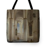 The Interior Of The Buurkerk At Utrecht  Tote Bag