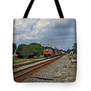 Train In Motion Tote Bag