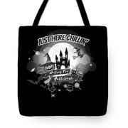 tshirt Just Here Chillin grayscale Tote Bag
