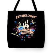 tshirt Just Here Chillin invert Tote Bag