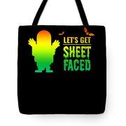 tshirt Lets Get Sheet Faced horizontal rainbow Tote Bag