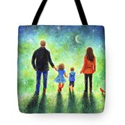 Twilight Walk With Mom And Dad Tote Bag