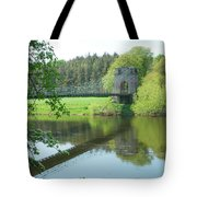 Union Bridge At Horncliffe On River Tweed Tote Bag