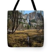 Upper And Lower Yosemite Falls Tote Bag