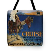 Vintage Poster -  Mediterranean Cruises Tote Bag