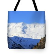 Wind Blows Over The Kenai Mountains Alaska Tote Bag