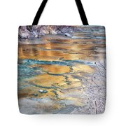 Winter Azure And Gold Tote Bag
