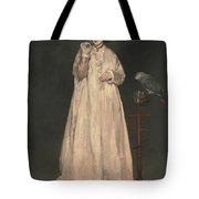 Young Lady In   Tote Bag