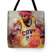 Lebron Raymone James Tote Bag