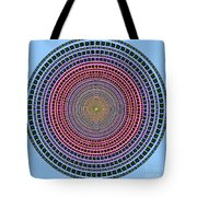 Vintage Multicolor Circle Tote Bag