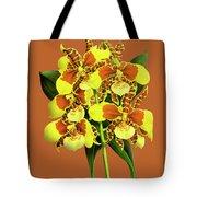 Orchid Vintage Print On Tinted Paperboard Tote Bag