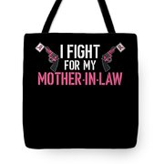 Breast Cancer Awareness Art For Warrior Women Dark Tote Bag