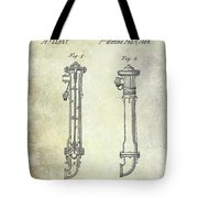 1859 Fire Hydrant Patent Tote Bag