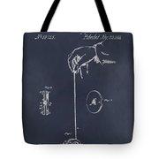 1866 Yo-yo Whirligig Blackboard Patent Print Tote Bag