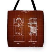1876 Brewing Cooler - Dark Red Blueprint Tote Bag