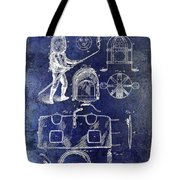 1877 Firemans Helmet And Dress Patent Blue Tote Bag