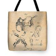 1880 Military Saddle Patent Print Antique Paper Tote Bag