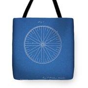 1885 Bicycle Wheel Patent Tote Bag