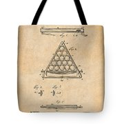1891 Billiard Ball Rack Patent Print Antique Paper Tote Bag