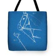 1891 Horse Harness Attachment Patent Print Blueprint Tote Bag