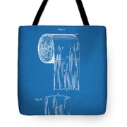 1891 Toilet Paper Roll Blueprint Patent Print Tote Bag