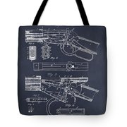 1894 Winchester Lever Action Rifle Blackboard Patent Print Tote Bag