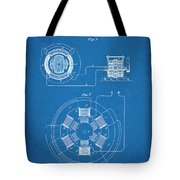 1896 Tesla Alternating Motor Blueprint Patent Print Tote Bag
