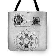 1896 Tesla Alternating Motor Gray Patent Print Tote Bag
