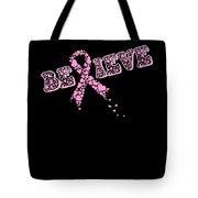Breast Cancer Awareness Art For Warrior Women Dark Tote Bag