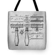 1901 Gillette Safety Razor Gray Patent Print Tote Bag