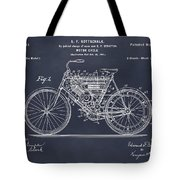 1901 Stratton Motorcycle Blackboard Patent Print Tote Bag