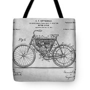 1901 Stratton Motorcycle Gray Patent Print Tote Bag