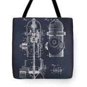 1903 Fire Hydrant Blackboard Patent Print Tote Bag