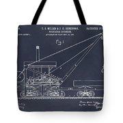 1903 Railroad Derrick Blackboard Patent Print Tote Bag