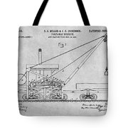 1903 Railroad Derrick Gray Patent Print Tote Bag