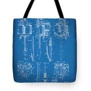1904 Wagner Tattoo Machine Blueprint Patent Print Tote Bag