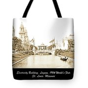 1904 World's Fair Lagoon And Electricity Building Tote Bag