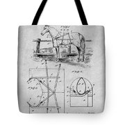1905 Horse Blanket Patent Print Gray Tote Bag