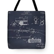 1913 Remington Model 17 Pump Shotgun Blackboard Patent Print Tote Bag