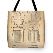 1914 Hockey Gloves Antique Paper Patent Print Tote Bag