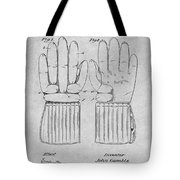 1914 Hockey Gloves Gray Patent Print Tote Bag