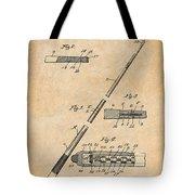 1917 Billiard Pool Cue Antique Paper Patent Print Tote Bag